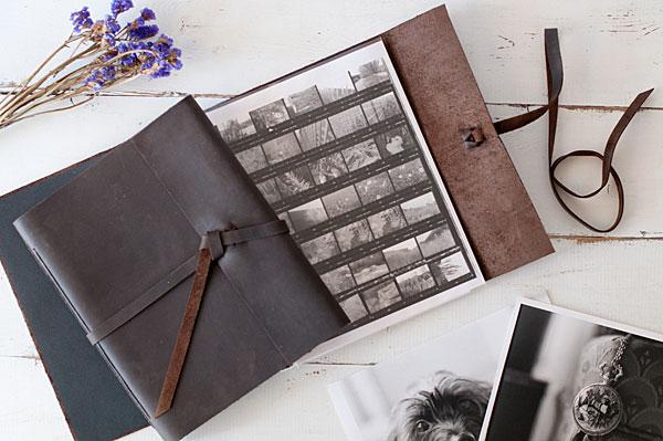 Blue Sky Paper's Leather Rustic Portfolio Book