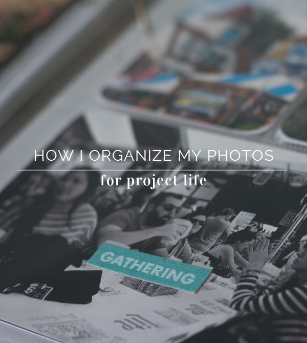 Photo File Organization for a Month by Month approach to Project Life