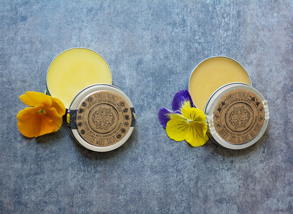 Natural and Foraged Muscle & Joint Salve for Humans; Dog Paw Salve for Dogs - handmade by Forest Things