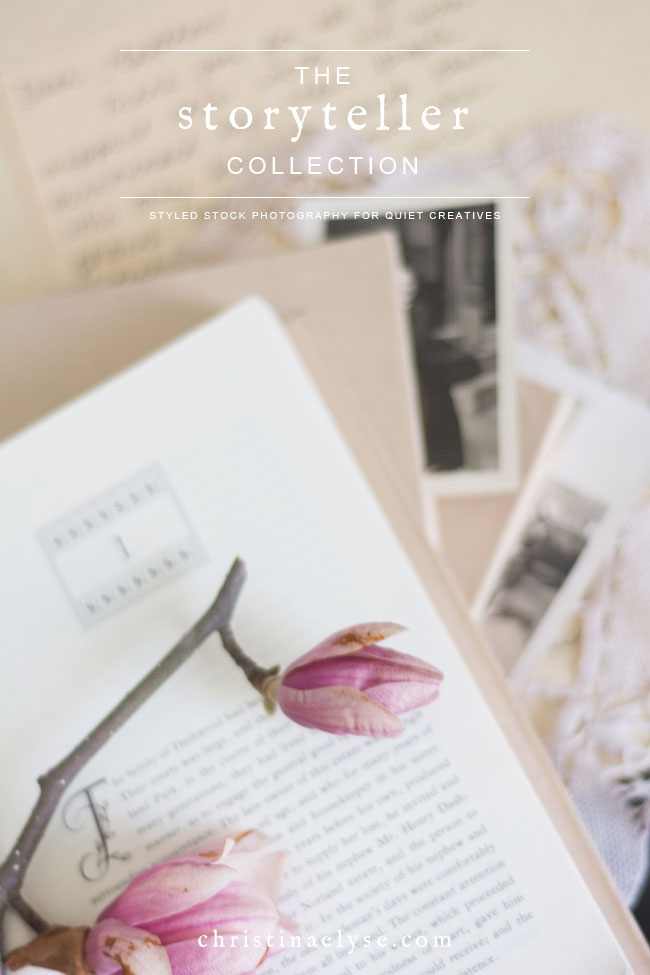 Styled Stock Photography for Writers, Readers, and Quiet Creatives by Christina Elyse