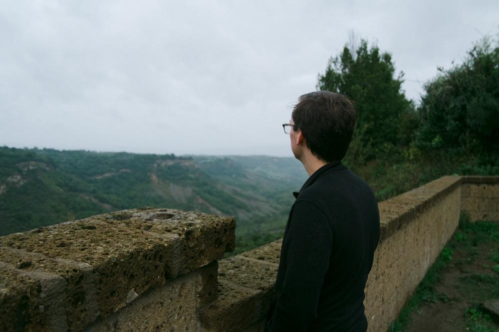 Misty views from Civita di Bagnoregio, Italy