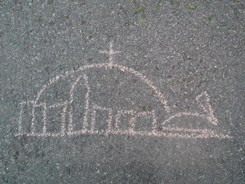"""Mon fils voulait que je lui dessine """"Montréal""""."""