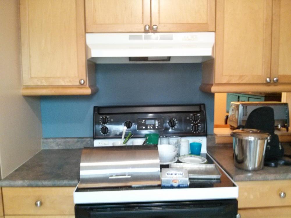 Le dosseret de la cuisine.