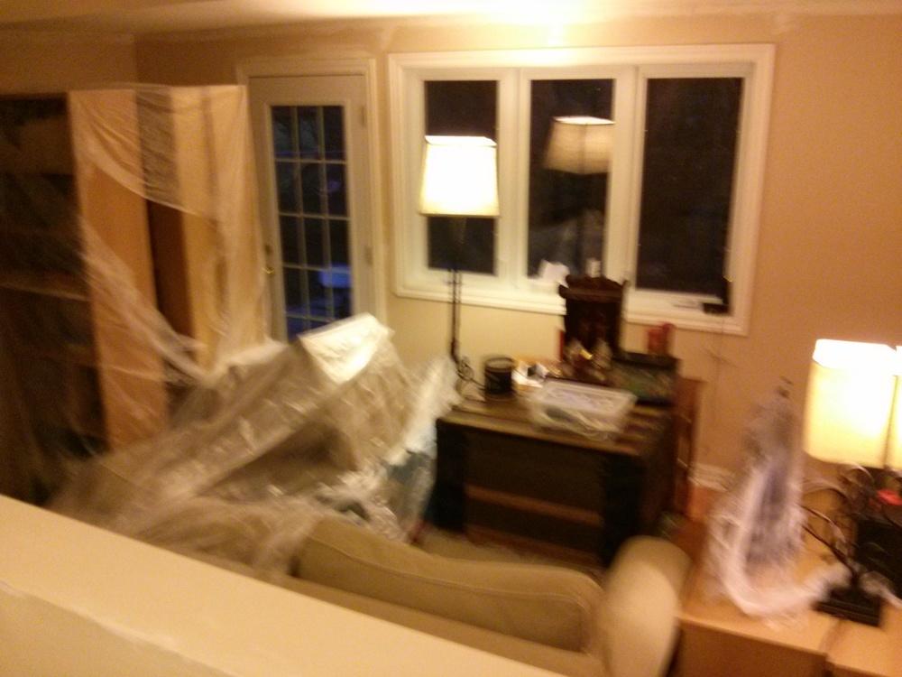 Bonus: le salon avant l'oeuvre.