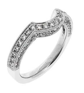 Custom Curved Wedding Bands Charland Jewelers