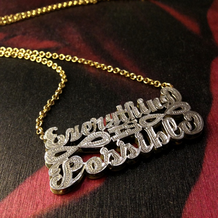 """Everything is Possible (Necklace)"" - Matthew Stone - Silver and Gold - 2012   BUY"
