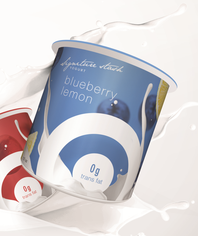 Yogurt packaging concept for Target