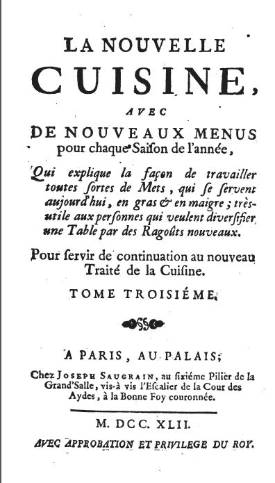Auguste Escoffier menu Gouttelette® premium giclee print on paper