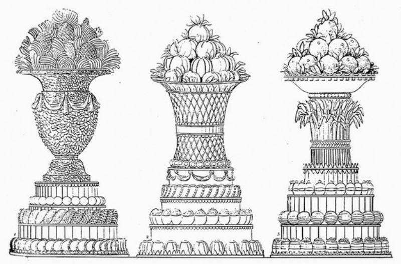 ENGRAVING FROM  LE PATISSIER ROYAL PARISIEN BY CAREME