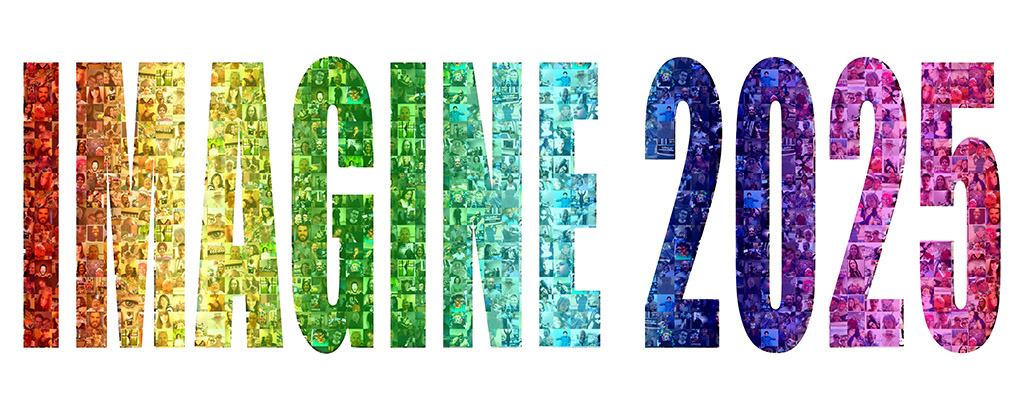 Mosaic photo for arts and science council's Imagine 2025 event.