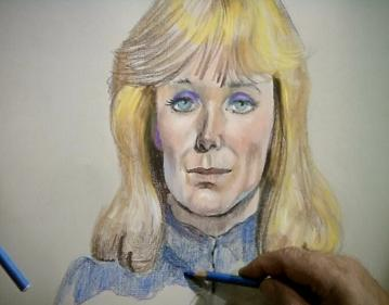 The sketch is hilarious.  Linda Evans looks like this today.  Well, she wishes.