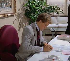 I think this is male secretary #3 for Alexis - he was also Tommy in Friday the 13th, Part VI