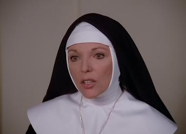 Even dressed as a nun, Alexis mouths off on the virtues of America
