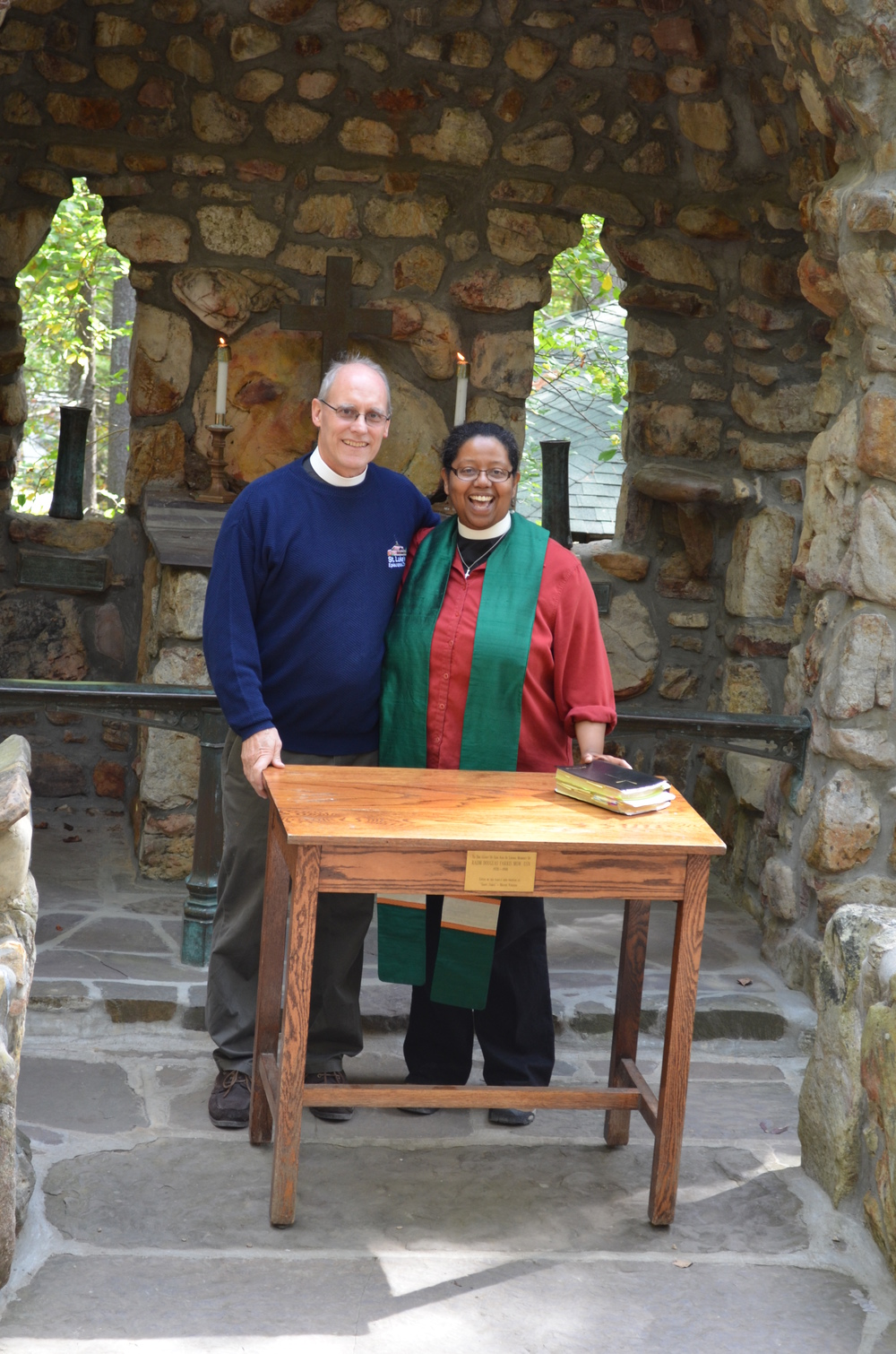 Tuck Bowerfind and Ketlen Solak at Cathedral Shrine of the Transfiguration, Shrine Mont, Orkney Springs, VA