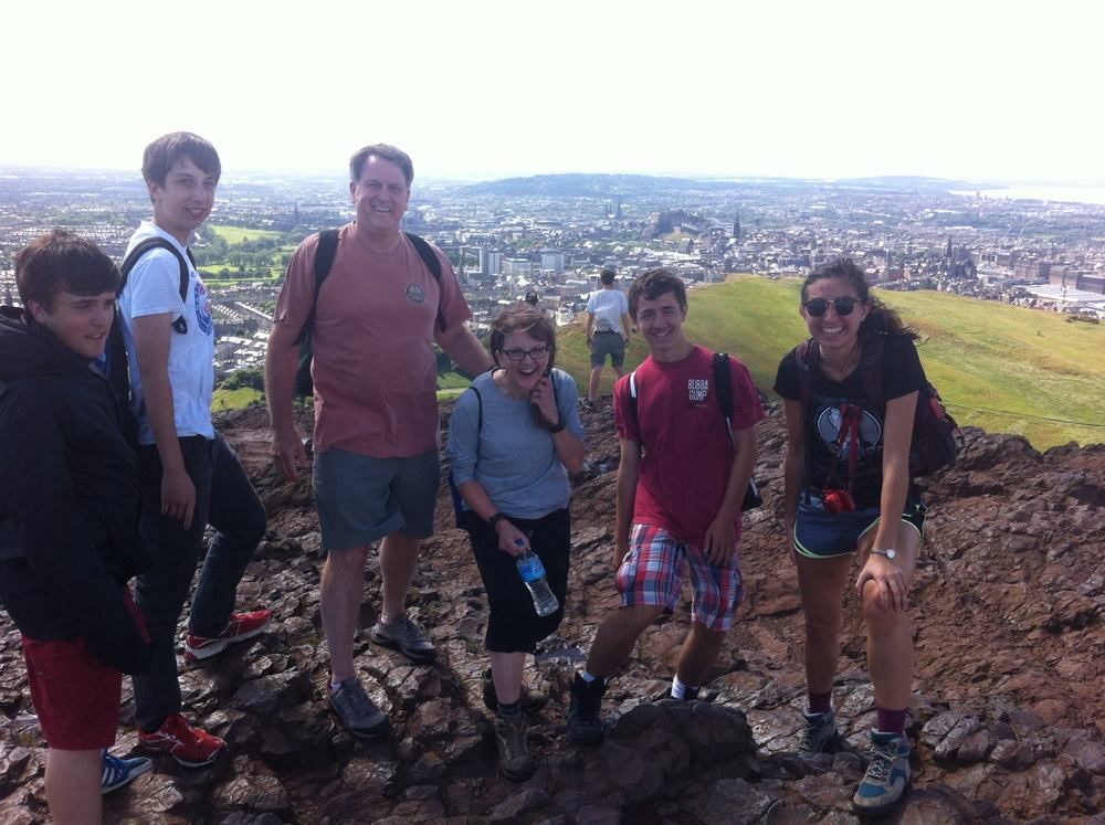 A breezy climb to the top of Arthur's Seat