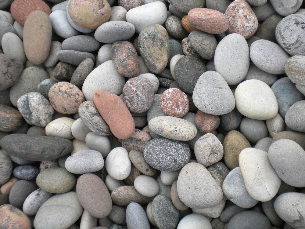 Stones of Iona on the beach at St. Columba's Bay