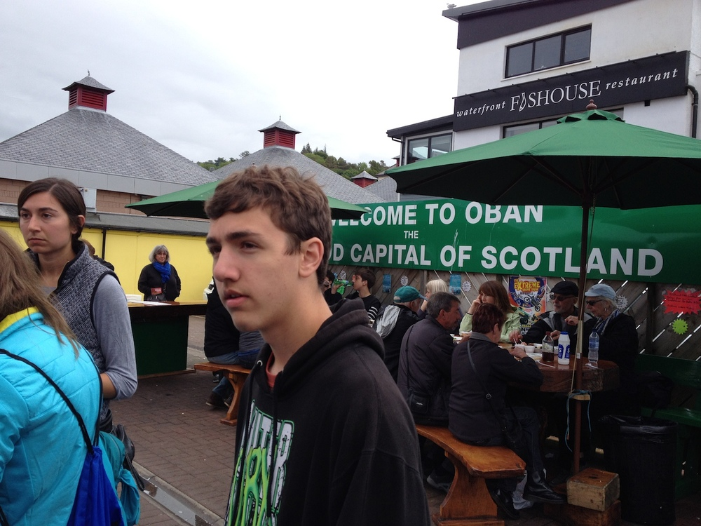 Lunch in Oban at the Shellfish Shack