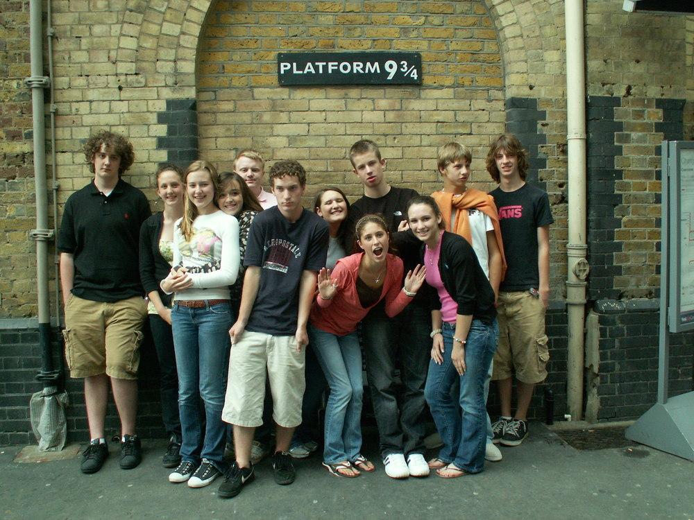 2007 - St Luke's J2A Pilgrims visit Platform 9 3/4 in London