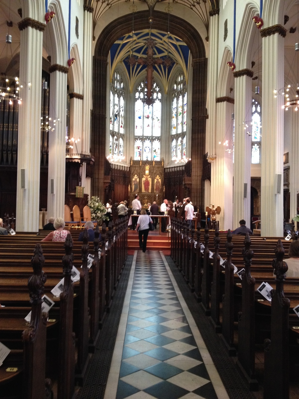 St. John's nave prior to the 10:30 am service on June 28.