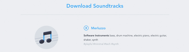 Wistia's free music tracks - just enter your email and enjoy.