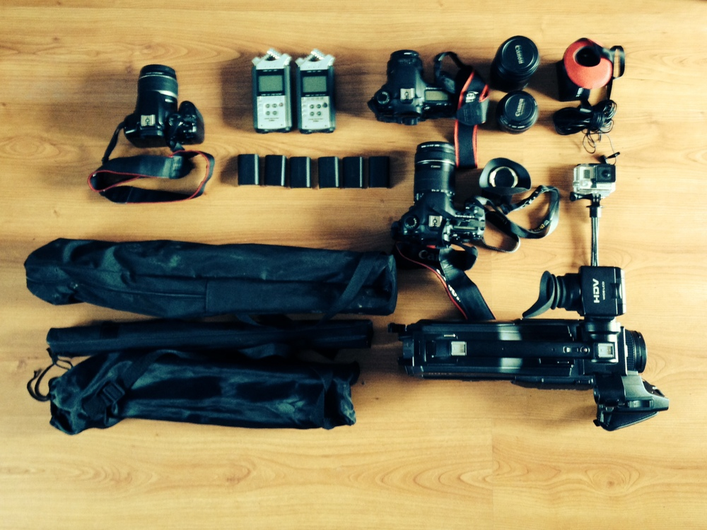 Some equipment I use during a wedding shoot