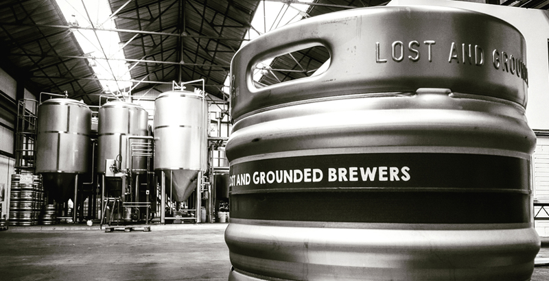 "Lost & GroundedBristol, England - Biercraft is delighted to be working with Alex Troncoso (ex Little Creatures and Camden) on his own brewery Lost and Grounded. An amazing Krones brewery set up with all the bells and whistles including ""a traditional lactic acid propagation plant"" enables them to make arguably the best lagers being produced in the UK right now. The Keller Pils is the more classic version and the Running with Sceptres introduces some new world hopping. Whilst No Rest for Dancers and Hop Hand Fallacy are Belgian influenced, very drinkable ales.Keller Pils, 330mlRunning with Sceptres, 330mlHop Hand Fallacy, 330mlNo Rest for Dancers, 330ml...and more rotating specials"