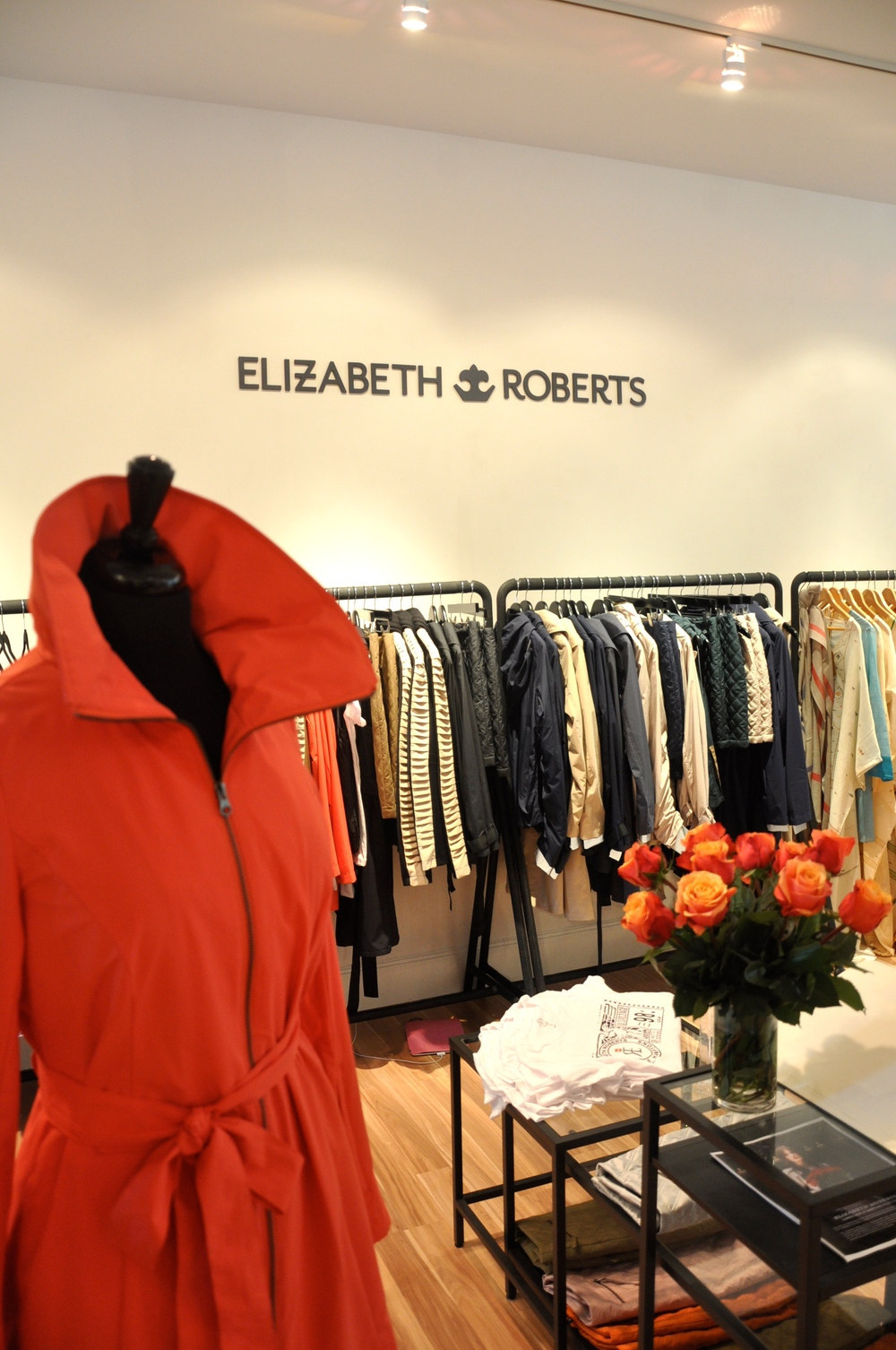 Elizabeth Roberts featured her Fall jacket collection