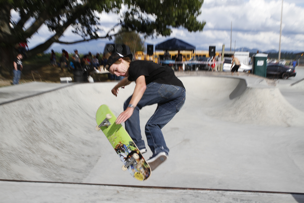 Scenes from the First Annual La Conner Community Skate Competition on Saturday, Aug. 24, 2013, at La Conner Skatepark. Nick Gonzales / Skagit Valley Herald