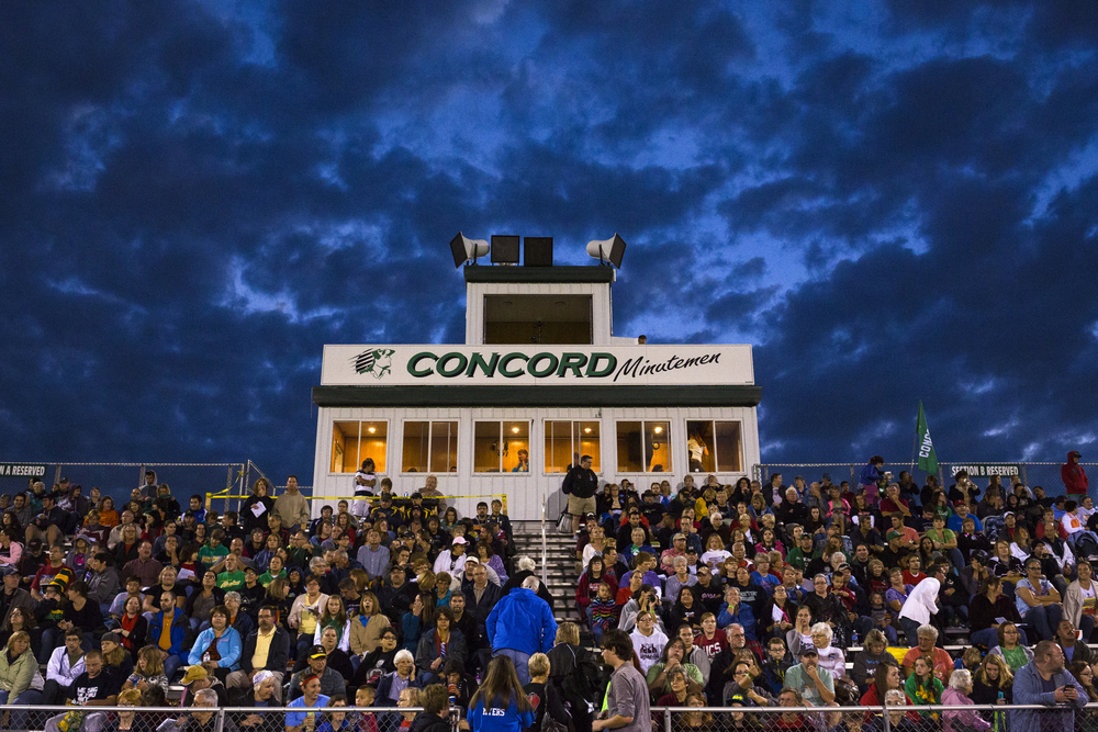 Fans, parents and fields fill the stands at the Concord Marching Band Invitational on Saturday, Sept. 20, 2014, at Concord Community High School