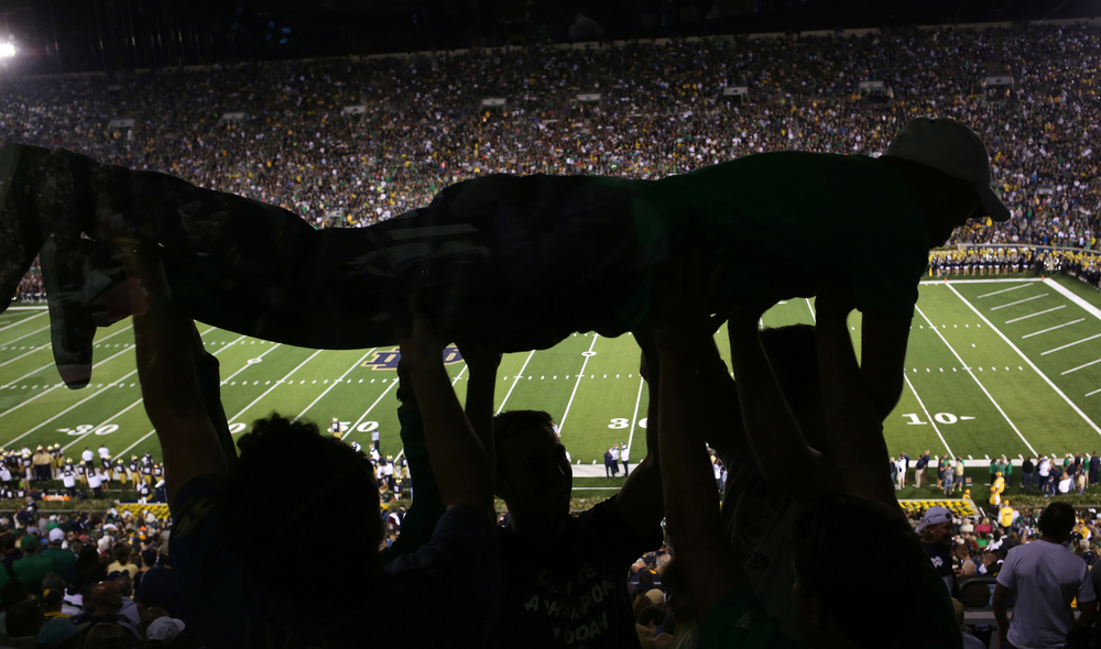 Notre Dame trounced Michigan 31-0 in their series finale on Saturday, Sept. 6, 2014, at Notre Dame Stadium.The Fighting Irish won 31-0.