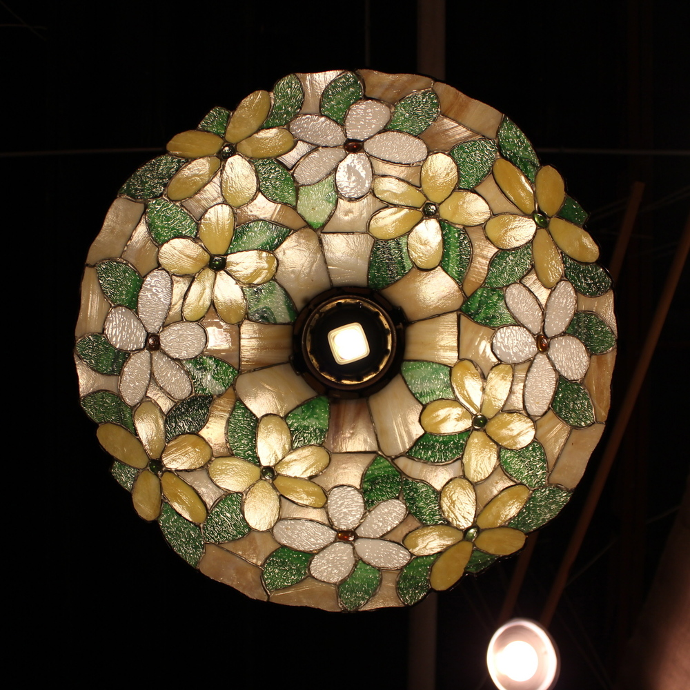 Floral Stained Glass Lamp Underside