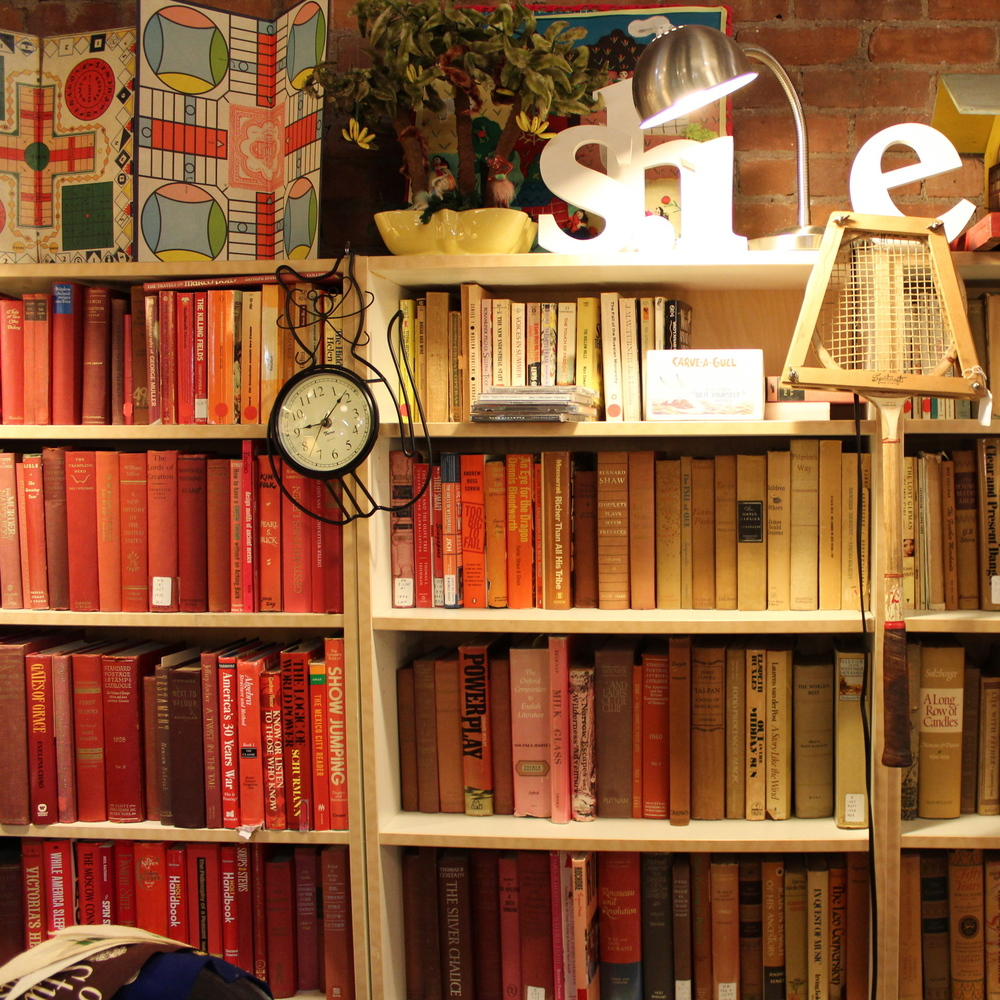 Color-Coded Book Shelving
