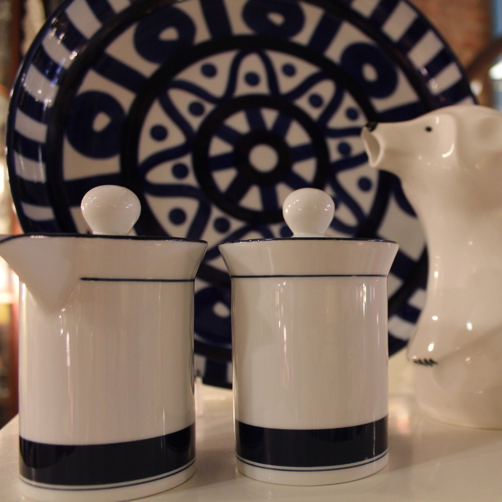 Navy Creamers and a Cute Polar Bear Pot