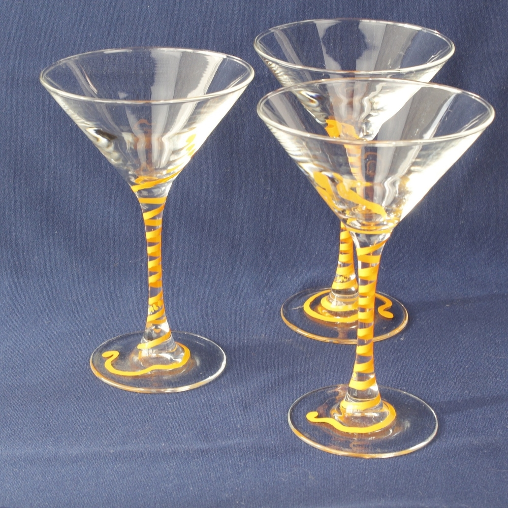 Orange Martini Glasses