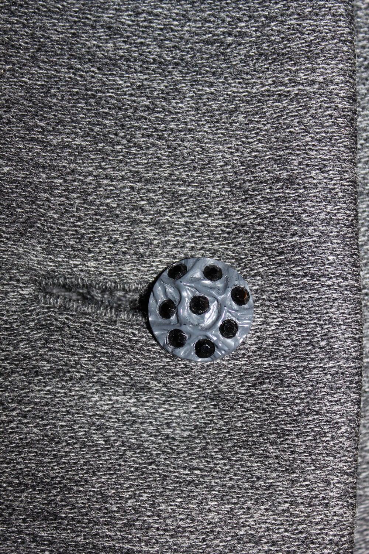 Black Rhinestone Button