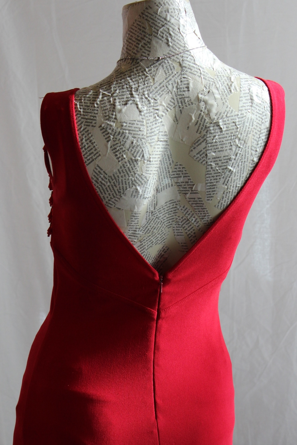 Red Dress with Dramatic V Back