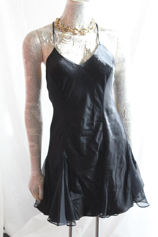 Black Silk Nightie