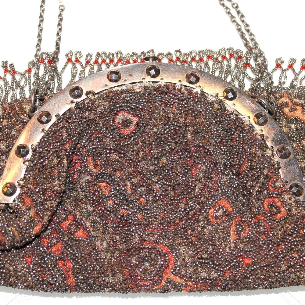 Exquisite Vintage Metal & Bead Bag