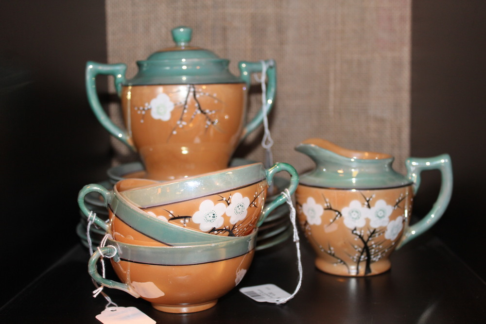 Cherry Blossom Lusterware Tea Set