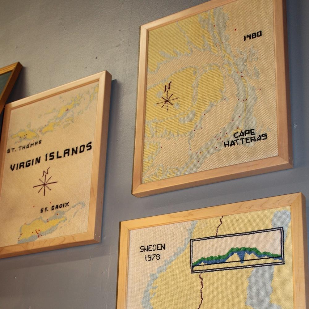 Needlepoint Nautical Maps