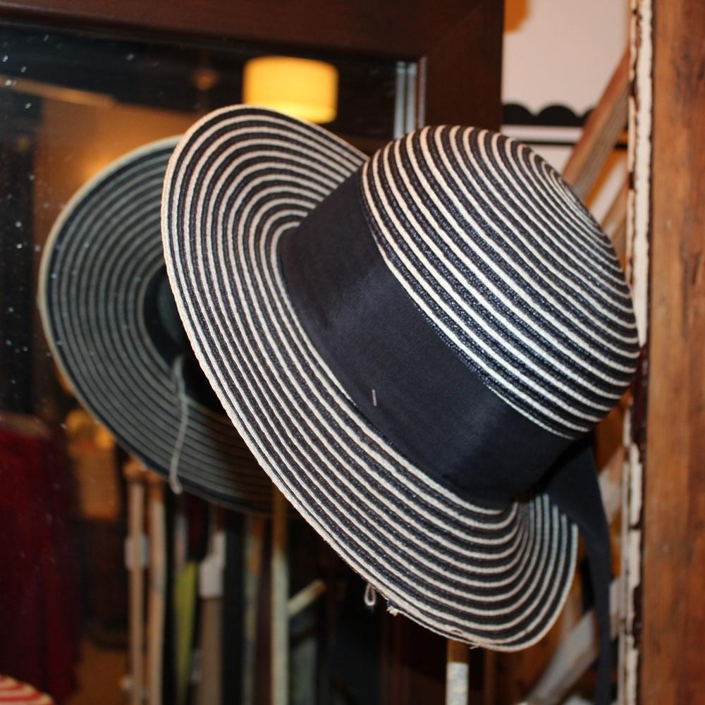 Navy & White Summer Hat