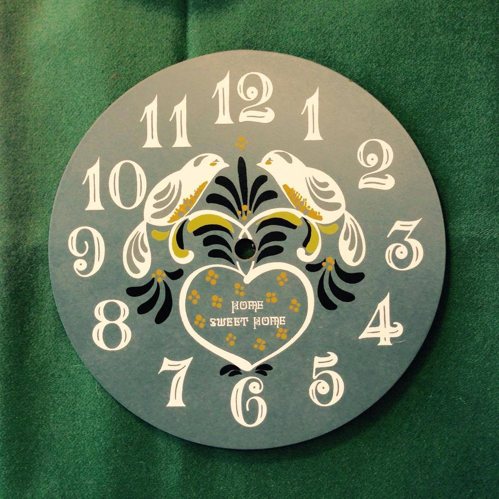 Lovebirds Clock Face