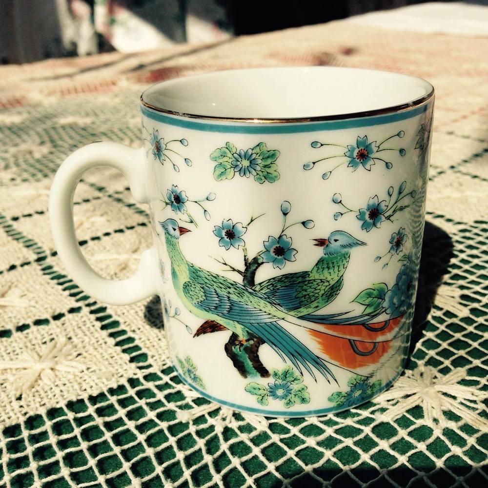 Peacock Teacup