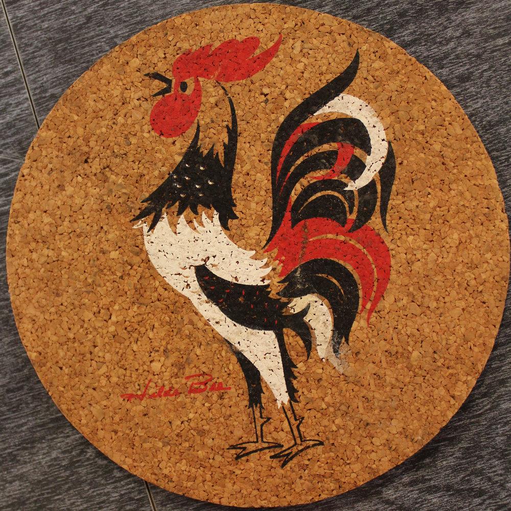 cork rooster trivet