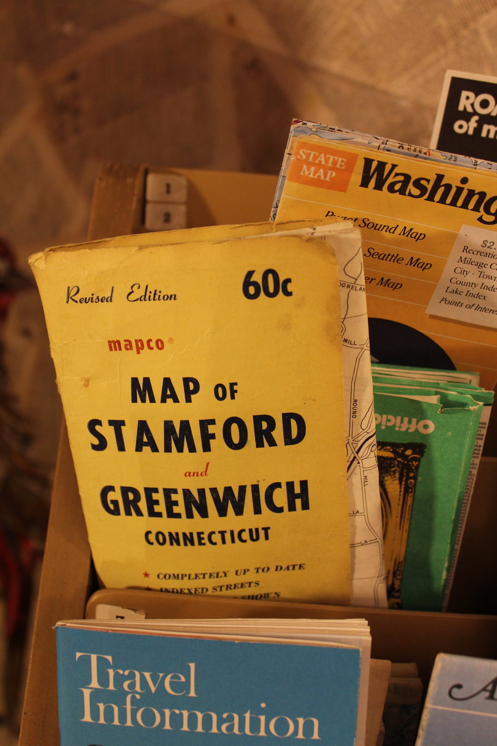 vintage travel maps
