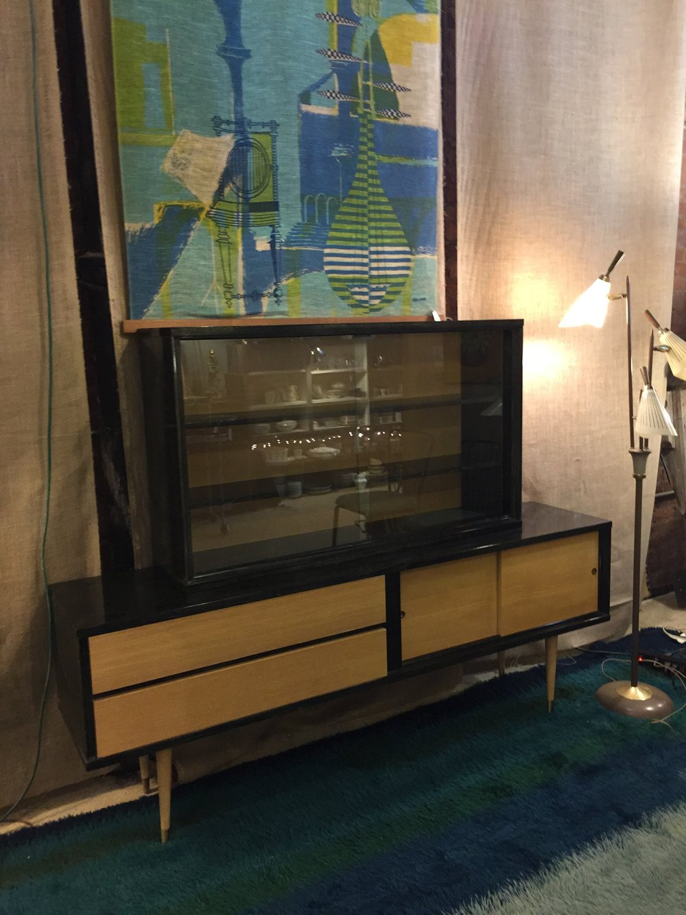 Mid-century Hutch and Tapestry