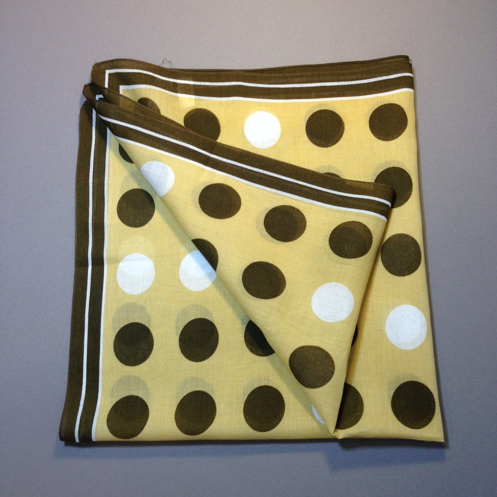 Brown Polka Dots Cotton Vintage Vera Scarf