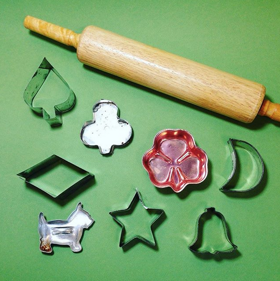 Vintage Cookie Cutters & Rolling Pin