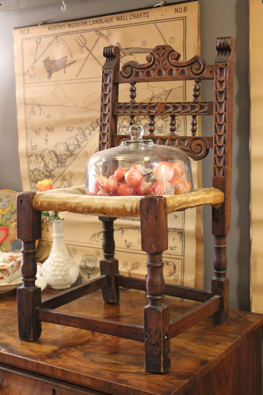 Antique Carved Child's Chair
