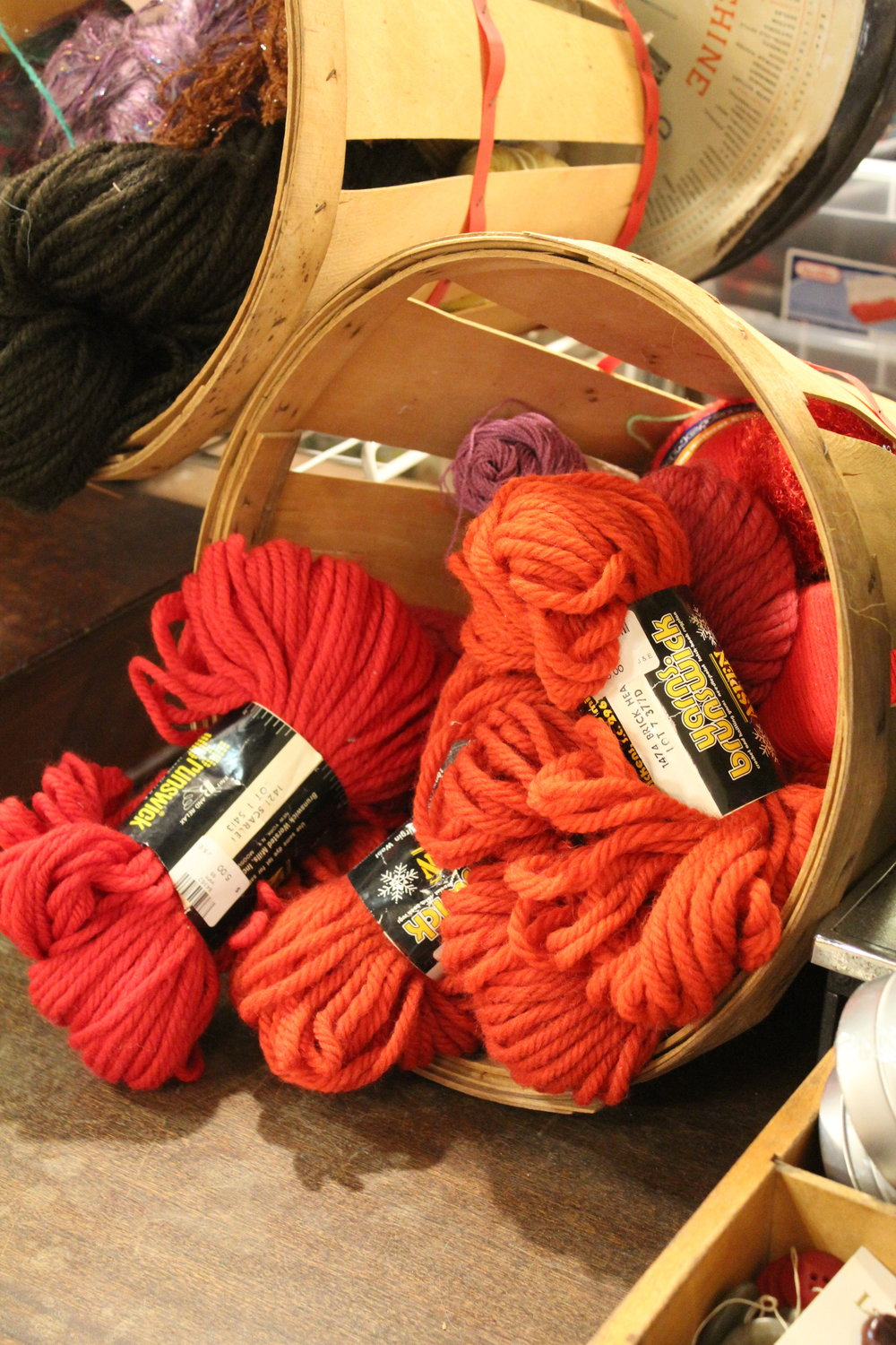 Basket of Wool Yarn